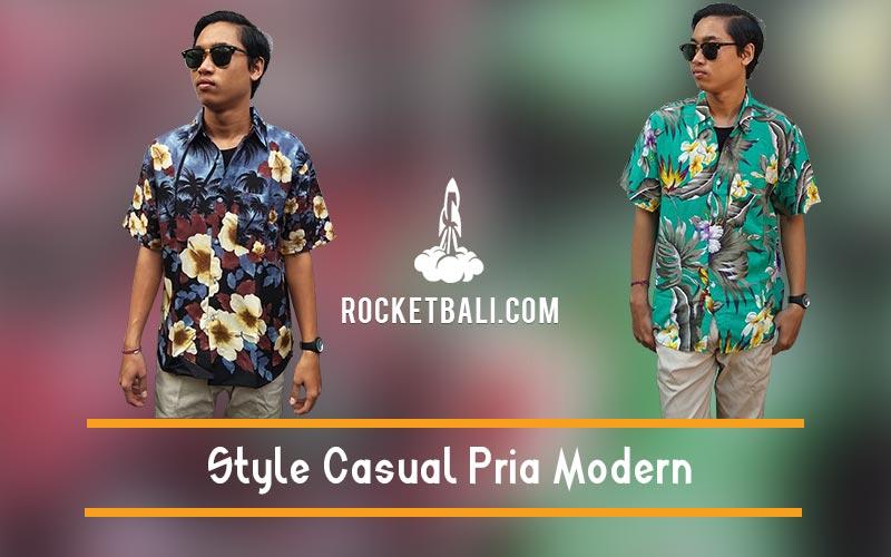 Style Casual Pria Modern Dengan Kemeja Pantai